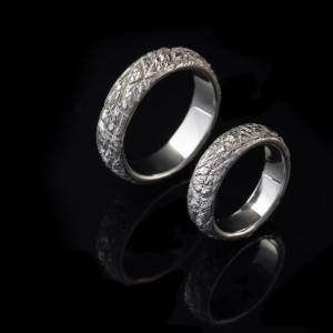 Marijos ir Andriaus balto aukso vestuviniai žiedai