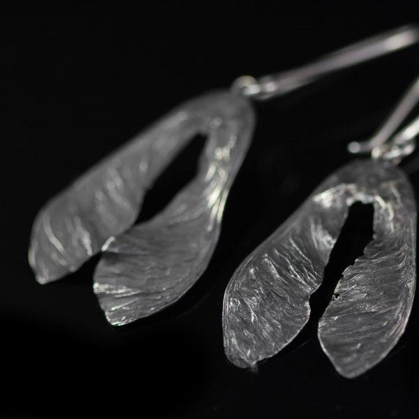 Auskarai sparnai iš sidabro