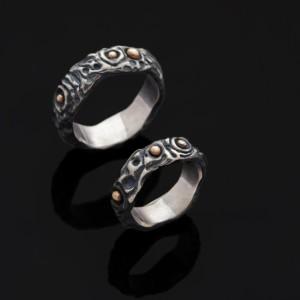 Sigito ir Gerdos sidabriniai  vestuviniai žiedai