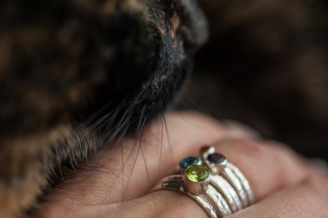 žiedu rinkinys iš sidabro