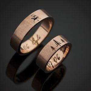 Tomo ir Eglės vestuviniai žiedai