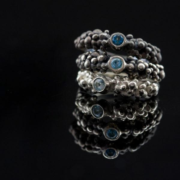 Žiedų rinkinys su topazais