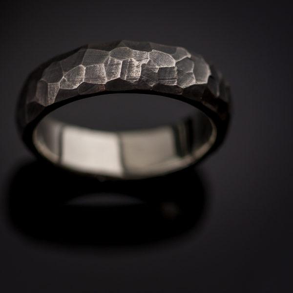 Vyriškas sidabrinis žiedas