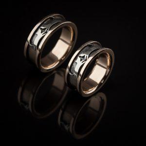 Vestuviniai žiedai su katinukais